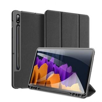Juodas atverčiamas dėklas Samsung TAB S7 11.0 T870 / T875   ''DUXDUCIS DOMO''