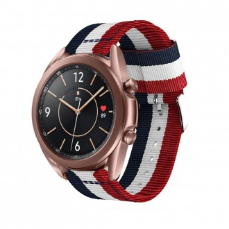 """Mėlyna-raudona apyrankė laikrodžiui Samsung Watch 3 (45MM) """"Tech-Protect Welling"""""""