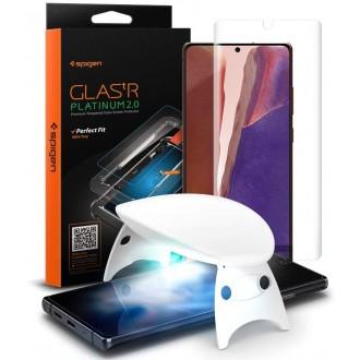 """Skaidrus apsauginis stiklas """"Spigen Glas.Tr Platinum"""" Samsung Galaxy Note 20 telefonui"""