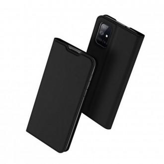 """Juodas atverčiamas dėklas Samsung Galaxy M51 telefonui """"Dux Ducis Skin"""""""