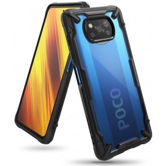 """Skaidrus juodais kraštais RINGKE """"Fusion X"""" dėklas telefonui POCO X3 NFC"""