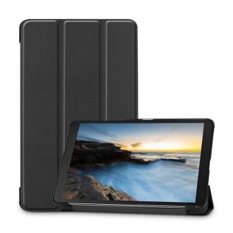 Juodas atverčiamas dėklas Samsung TAB A 8.0 2019 T290 BLACKTECH-PROTECT SMARTCASE