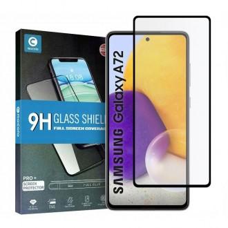Apsauginis grūdintas stiklas juodais kraštais MOCOLO TG+FULL GLUE  telefonui Samsung A72