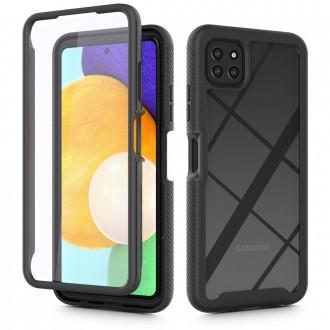 """Juodas dėklas Samsung Galaxy A22 5G telefonui """"Tech-Protect Defense 360"""""""