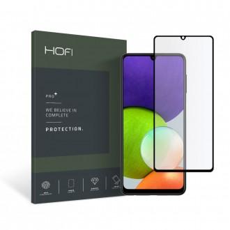 Apsauginis grūdintas stiklas juodais kraštais HOFI GLASS PRO+  telefonui Samsung A22 4G