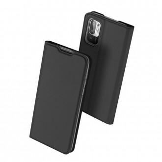 Juodas atverčiamas dėklas Dux Ducis Skin Pro Xiaomi Poco M3 PRO 5G / Redmi Note 10 5G