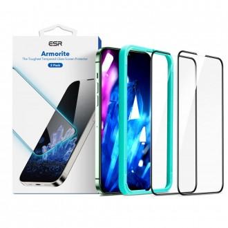 """Grūdintas apsauginis ekrano stiklas """"ESR Armourite"""" telefonui iPhone 13 / 13 Pro (2vnt.)"""