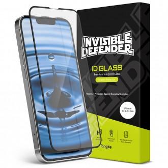 """Juodais krašteliais apsauginis grūdintas stiklas """"Ringke ID FC Glass"""" teledonui iPhone 13 / 13 Pro"""