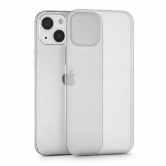 Itin plonas (0.4 mm), dalinai permatomas matinis dėklas TECH-PROTECT ULTRASLIM telefonui iPhone 13 mini