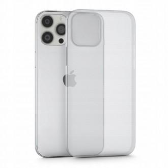 Itin plonas (0.4 mm), dalinai permatomas matinis dėklas TECH-PROTECT ULTRASLIM telefonui iPhone 13 Pro