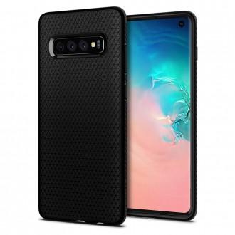 """Juodas dėklas Samsung Galaxy S10 telefonui """"Spigen Liquid Air"""""""