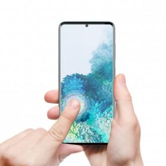 """Juodas lankstus apsauginis stiklas Samsung Galaxy S20 telefonui """"MyScreen Diamond Edge"""""""