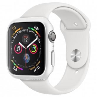 """Baltas dėklas laikrodžiui Apple Watch 4/5 (44MM) """"Spigen Thin Fit"""""""