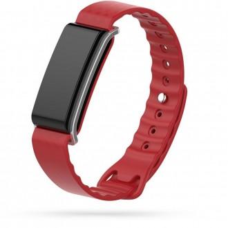 """Raudona apyrankė laikrodžiui Huawei Band A2 """"Tech-Protect Smooth"""""""
