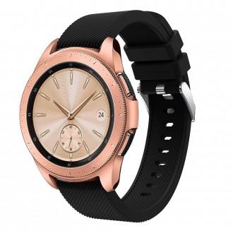 """Juoda apyrankė laikrodžiui Samsung Watch 42MM """"Tech-Protect Smoothband"""""""
