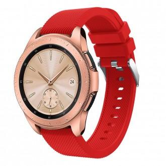 """Raudona apyrankė laikrodžiui Samsung Watch 42MM """"Tech-Protect Smoothband"""""""