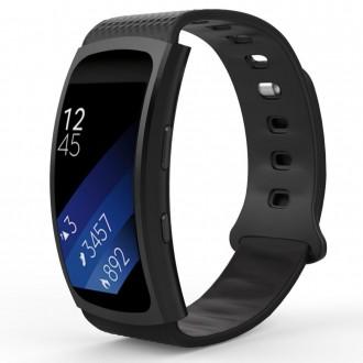 """Juoda apyrankė laikrodžiui Samsung Gear Fit/Fit 2 Pro """"Tech-Protect Smooth"""""""