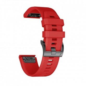 """Raudona apyrankė laikrodžiui Garmin Fenix 5/6/6 Pro """"Tech-Protect Smooth"""""""