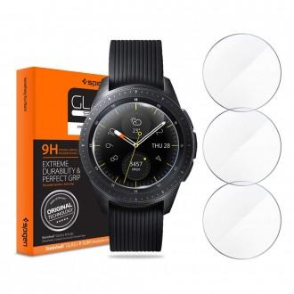 """Skaidrus apsauginis grūdintas stiklas Samsung Watch 42MM """"Spigen Glas.Tr Slim"""" 3vnt"""
