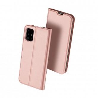 """Rožinis-auksinis atverčiamas dėklas Samsung Galaxy M31S telefonui """"Dux Ducis Skin"""""""