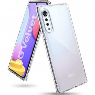 "Skaidrus dėklas LG Velvet telefonui ""Ringke Fusion"""