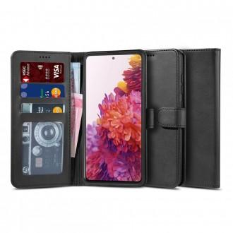 """Juodas atverčiamas dėklas Samsung Galaxy S20 Fe telefonui """"TECH-PROTECT WALLET 2"""""""