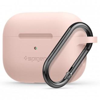 "Silikoninis Dėklas ""Spigen Silicone Fit"" APPLE AIRPODS PRO rožinis"