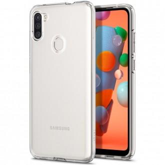 "Skaidrus dėklas Samsung Galaxy A11 telefonui ""Spigen Liquid Crystal"""