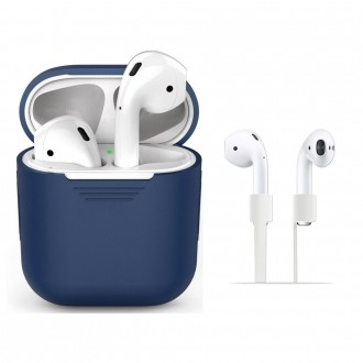 "Mėlynas dėklas APPLE AIRPODS ""TECH-PROTECT''"