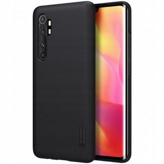"""Juodos spalvos plastikinis dėklas Xiaomi Mi Note 10 Lite telefonui """"Nillkin Frosted Shield"""""""