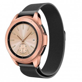 """Juoda apyrankė laikrodžiui Samsung Galaxy Watch 42MM """"Tech-Protect Milaneseband"""""""