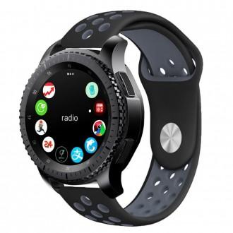 """Juoda-pilka apyrankė laikrodžiui Samsung Watch 42MM """"Tech-Protect Softband"""""""