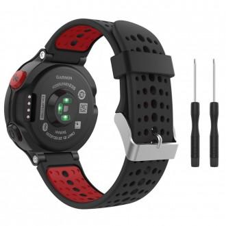 """Juoda-raudona apyrankė laikrodžiui Garmin Forerunner 220/230/235/630/735 """"Tech-Protect Smooth"""""""