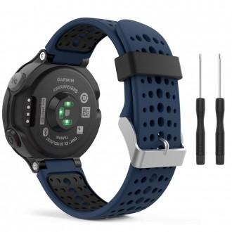 """Mėlyna-juoda apyrankė laikrodžiui Garmin Forerunner 220/230/235/630/735 """"Tech-Protect Smooth"""""""