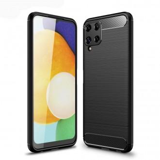 """Juodas dėklas Samsung Galaxy A22 4G telefonui """"TECH-PROTECT TPUCARBON """""""
