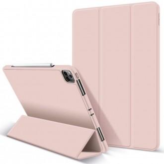 """Rožinis atverčiamas dėklas Ipad Pro 12.9 2021 """"Tech-Protect SC Pen"""""""