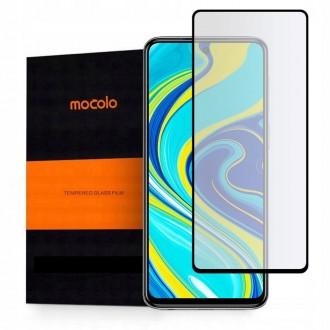 """Juodas apsauginis grūdintas """"Mocolo"""" stiklas Xiaomi Redmi Note 9s / 9 Pro / 9 Pro Max telefonui"""