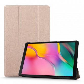 """Šviesiai rožinis atverčiamas dėklas Samsung T510 / T515 Tab A 10.1 2019 """"Smart Leather"""""""
