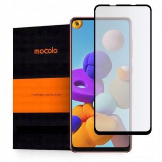 """Juodas apsauginis grūdintas """"Mocolo"""" stiklas Samsung Galaxy A21S telefonui"""