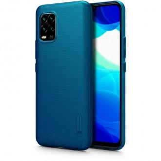 """Mėlynos spalvos plastikinis dėklas Xiaomi Mi 10 Lite telefonui """"Nillkin Frosted Shield"""""""