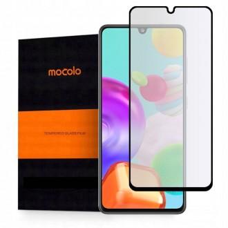 """Juodas apsauginis grūdintas """"Mocolo"""" stiklas Samsung Galaxy A41 telefonui"""