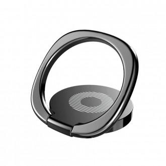 """Juodas universalus telefono laikiklis ant piršto - žiedas """"BASEUS MAGNETIC 360"""""""