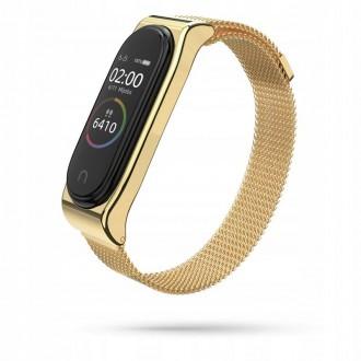 """Auksinė apyrankė laikrodžiui Xiaomi Mi Band 3/4 """"Tech-Protect Milaneseband"""""""