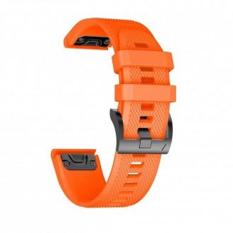 """Oranžinė apyrankė laikrodžiui Garmin Fenix 3/5X/3HR/5X Plus/6X/6X Pro """"Tech-Protect Smooth"""""""