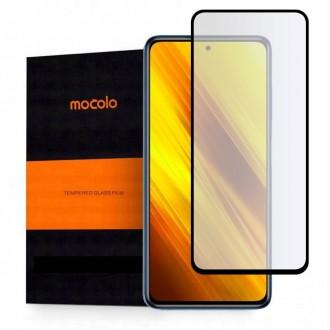 """Juodas apsauginis grūdintas """"Mocolo"""" stiklas Xiaomi Poco X3 NFC telefonui"""