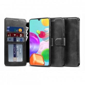 """Juodas atverčiamas dėklas Samsung Galaxy M51 telefonui """"TECH-PROTECT WALLET"""""""