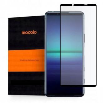 Apsauginis, juodais kraštais, grūdintas stiklas Mocolo ''TG+3D'' telefonui SONY XPERIA 5 II