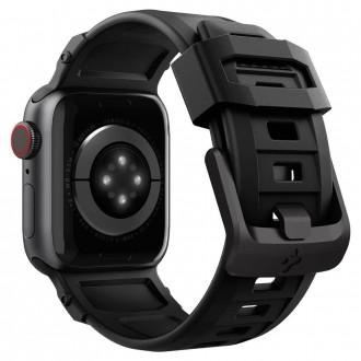 "Juodas apyrankė laikrodžiui Apple Watch 2 / 3 / 4 / 5 / 6 / SE (38 / 40MM) ""Spigen Rugged Band"""