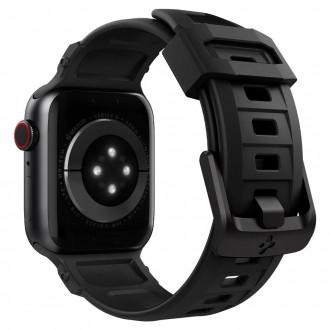 "Juodas apyrankė laikrodžiui Apple Watch 2 / 3 / 4 / 5 / 6 / SE (42 / 44MM) ""Spigen Rugged Band"""