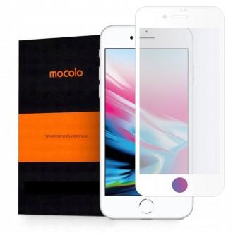 """Baltas apsauginis grūdintas """"Mocolo"""" stiklas Apple Iphone 7 / 8 / SE 2020 telefonui"""